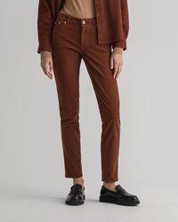 GANT Farla Slim Fit Corduroy Jeans - Brown
