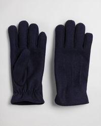 GANT Melton Gloves - Blue