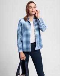 GANT Broadcloth Gingham Shirt - Blue