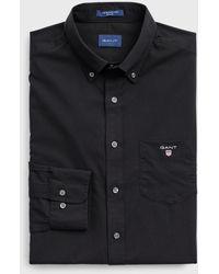 GANT Regular Fit Broadcloth Shirt - Black