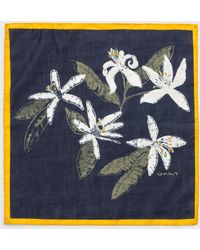 GANT Cotton Silk Pocket Square - Blue