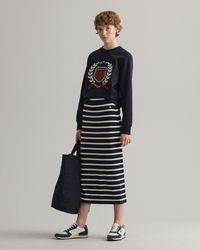 GANT Breton Stripe Jersey Skirt - Blue