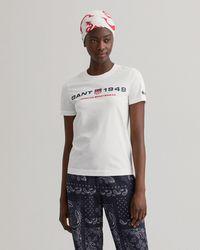 GANT Retro Shield T-shirt - White