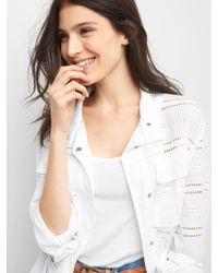 Gap Eyelet Utility Jacket - White