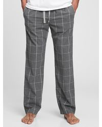 Gap Adult Pajama Pants In Poplin - Gray