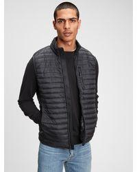 Gap Upcycled Lightweight Puffer Vest - Black