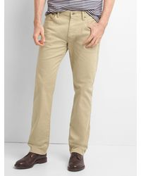 50% price available hot-selling newest Gap Corduroy Straight Fit Cords in Navy (Blue) for Men - Lyst