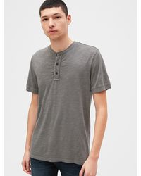 Gap - Slub Henley T-shirt - Lyst