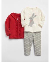 Gap Bunny Sweater Legging Set - Red