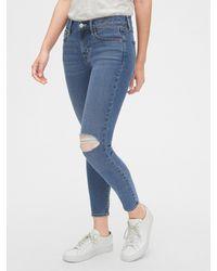 Gap Soft Wear Mid Rise True Skinny Ankle Jeans - Blue
