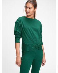 Gap Fit Breathe Twist-front T-shirt - Green