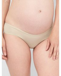 Gap Maternity Stretch Cotton Hipster - Natural