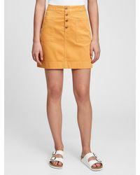 Gap Utility Mini Skirt - Yellow