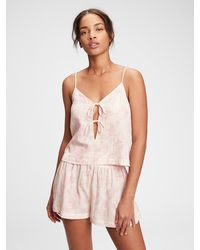 Gap Dreamwell Tie-front Cami - Pink