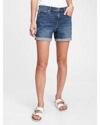 Gap 5'' Mid Rise Denim Shorts With Washwelltm - Blue