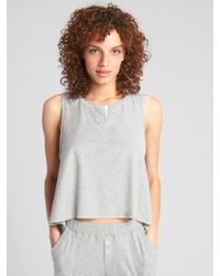 Gap - Hi-lo Notch-neck Tank Top In Pima Cotton - Lyst