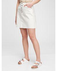 Gap High Rise Denim Skirt - Multicolor