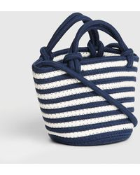 Gap Mini Bucket Rope Crossbody Bag - Blue