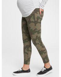 Gap Maternity Inset Panel True Skinny Camo Jeans With Washwelltm - Green