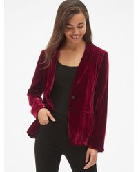Gap Velvet Blazer - Red
