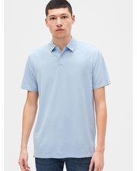 Gap Vintage Soft Polo Shirt Shirt - Blue