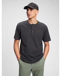 Gap Henley T-shirt - Black