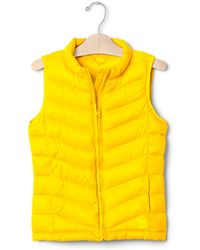 Gap Coldcontrol Lite Quilted Vest - Yellow