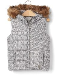 Gap Coldcontrol Max Fur-lined Puffer Vest - Gray