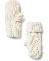 Gap Cable Knit Mittens - White
