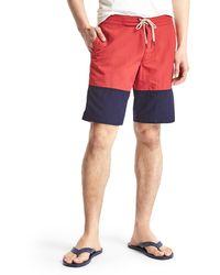 "Gap Colorblock Board Shorts (10"") - Blue"