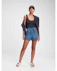 Gap Pull-on Denim Shorts With Washwelltm - Blue