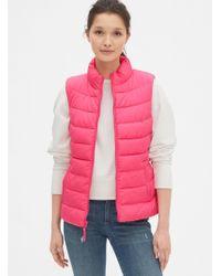 Gap Coldcontrol Lightweight Puffer Vest - Pink