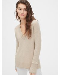 Gap Boucle V-neck Sweater - Natural
