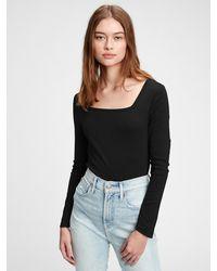 Gap Modern Squareneck T-shirt - Black