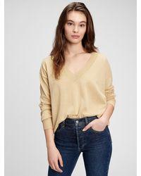 Gap Lightweight V-neck Sweater - Natural