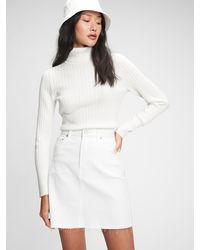 Gap Denim Mini Skirt - White