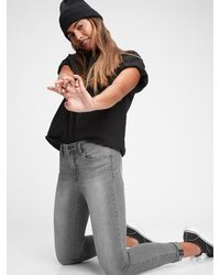 Gap Mid Rise True Skinny Jeans - Gray