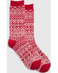 f956db40472 Lyst - Urban Outfitters Winter Fair Isle Over-the-knee Sock