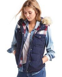 Gap + Pendleton Coldcontrol Hooded Puffer Vest - Multicolor