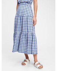 Gap Tiered Maxi Skirt - Blue