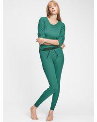 Gap Ribbed Sweatpants In Modal - Green