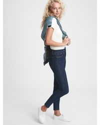 Gap Sky High Rise Universal Jegging With Secret Smoothing Pockets - Blue