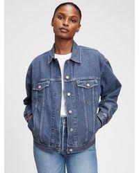 Gap Oversized Denim Jacket With Washwelltm - Blue