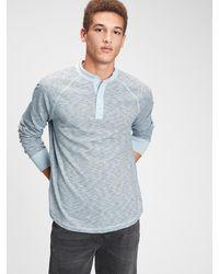Gap Henley T-shirt - Blue
