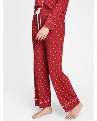 Gap Pajama Pants In Modal - Red