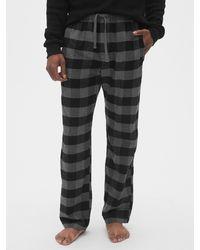 Gap Flannel Pajama Pants - Gray