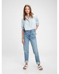 Gap Pleated Popover Top - Blue