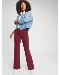 Gap High Rise Vintage Flare Cords - Red