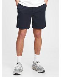 "Gap 7"" Easy Seersucker Shorts With E-waist - Blue"