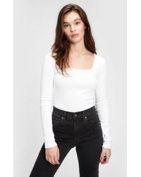 Gap Modern Squareneck T-shirt - White